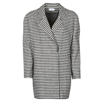 Odjeća Žene  Kaputi Betty London NIVER Crna / Bijela