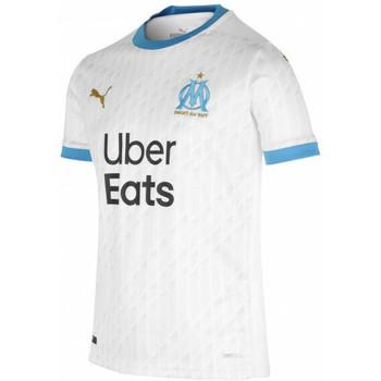 Odjeća Dječak  Majice kratkih rukava Puma Maillot domicile enfant OM 2020/21 blanc/bleu azur