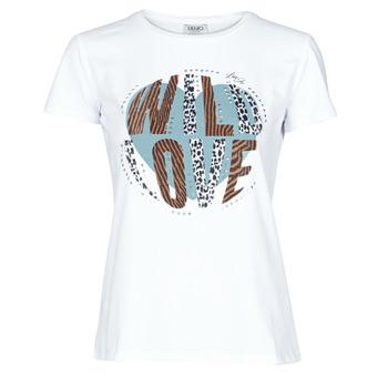 Odjeća Žene  Majice kratkih rukava Liu Jo WF0098-J5003 Bijela