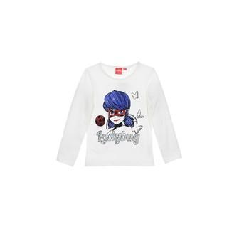 Odjeća Djevojčica Majice dugih rukava TEAM HEROES  MIRACULOUS LADYBUG Bijela
