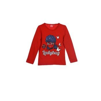 Odjeća Djevojčica Majice dugih rukava TEAM HEROES  MIRACULOUS LADYBUG Red
