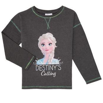 Odjeća Djevojčica Majice dugih rukava TEAM HEROES  FROZEN Siva