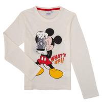 Odjeća Dječak  Majice dugih rukava TEAM HEROES  MICKEY Bijela