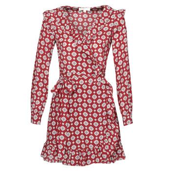 Odjeća Žene  Kratke haljine MICHAEL Michael Kors LUX PINDOT WRAP DRS Bordo