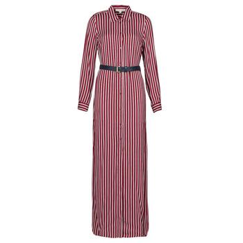 Odjeća Žene  Duge haljine MICHAEL Michael Kors WARM PLAYFL SHIRT DR Bordo / Bijela