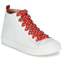 Obuća Djevojčica Visoke tenisice Little Mary SASHA (VE014) Bijela / Red