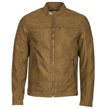 Odjeća Muškarci  Kožne i sintetičke jakne Jack & Jones JJEROCKY Boja konjaka