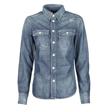 Odjeća Žene  Košulje i bluze G-Star Raw KICK BACK WORKER SHIRT WMN L\S Blue