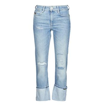 Odjeća Žene  Traperice ravnog kroja G-Star Raw NOXER HIGH STRAIGHT WMN Blue