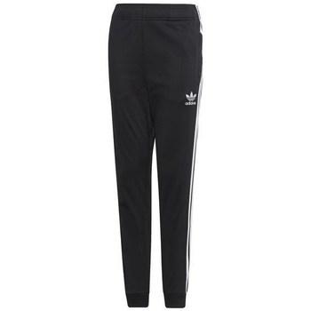Odjeća Djeca Donji dio trenirke adidas Originals Junior Superstar Pants Crna