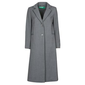 Odjeća Žene  Kaputi Benetton  Siva
