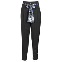 Odjeća Žene  Lagane hlače / Šalvare Desigual CHARLOTTE Crna
