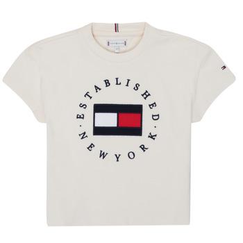 Odjeća Djevojčica Majice kratkih rukava Tommy Hilfiger KG0KG05503-Z00-J Bež