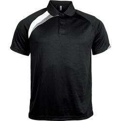 Odjeća Muškarci  Polo majice kratkih rukava Proact Polo manches courtes  Sport noir/blanc/gris clair