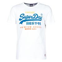 Odjeća Muškarci  Majice kratkih rukava Superdry VL TRI TEE 220 Bijela