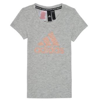 Odjeća Djevojčica Majice kratkih rukava adidas Performance JG A MHE TEE Bijela