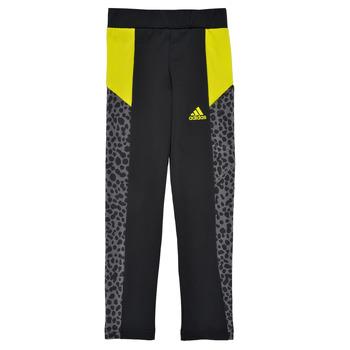 Odjeća Djevojčica Tajice adidas Performance G LEO TIG Crna