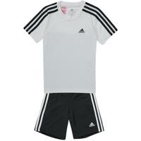Odjeća Dječak  Dvodijelne trenirke adidas Performance B 3S T SET Bijela / Crna