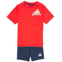 Odjeća Dječak  Dječji kompleti adidas Performance BOS SUM  SET Red / Crna