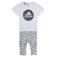 Odjeća Djevojčica Dječji kompleti adidas Performance TIGHT SET Bijela