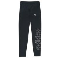 Odjeća Djevojčica Tajice adidas Performance G LIN LEG Crna
