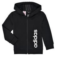 Odjeća Dječak  Sportske majice adidas Performance YB TR 3S FZ Crna