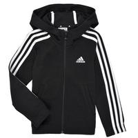 Odjeća Djevojčica Sportske majice adidas Performance G 3S FZ HD Crna