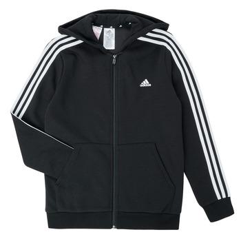 Odjeća Dječak  Sportske majice adidas Performance B 3S FZ HD Crna