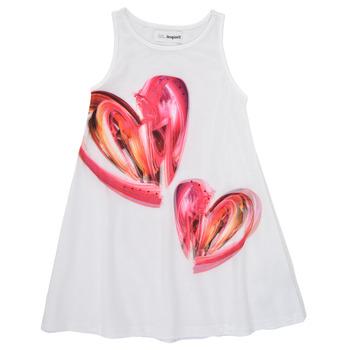 Odjeća Djevojčica Kratke haljine Desigual 21SGVK12-1000 Bijela