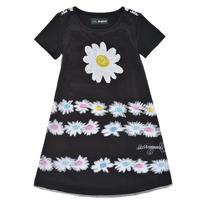 Odjeća Djevojčica Kratke haljine Desigual 21SGVK28-2000 Crna