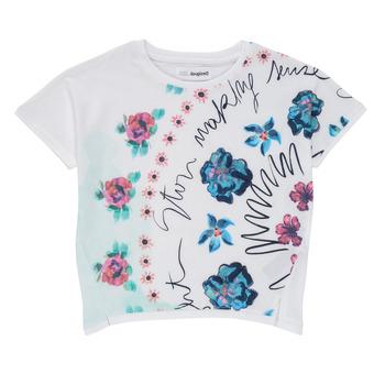 Odjeća Djevojčica Majice kratkih rukava Desigual 21SGTK02-1000 Bijela
