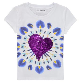 Odjeća Djevojčica Majice kratkih rukava Desigual 21SGTK45-1000 Bijela