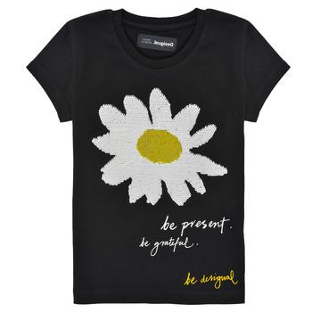 Odjeća Djevojčica Majice kratkih rukava Desigual 21SGTK28-2000 Crna
