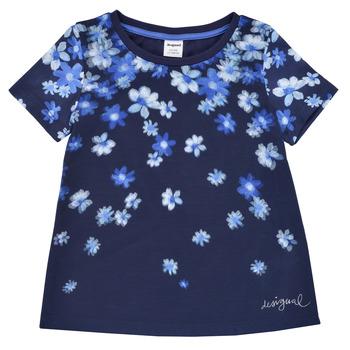 Odjeća Djevojčica Majice kratkih rukava Desigual 21SGTK37-5000 Blue