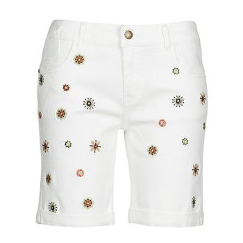 Odjeća Žene  Bermude i kratke hlače Desigual GRECIA Bijela