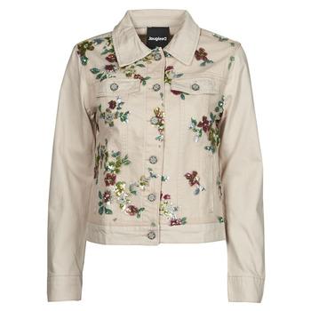 Odjeća Žene  Traper jakne Desigual BRILLIGRIN Ružičasta