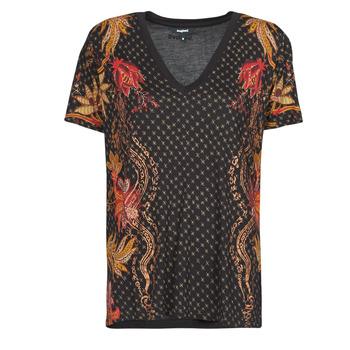 Odjeća Žene  Majice kratkih rukava Desigual PRAGA Crna