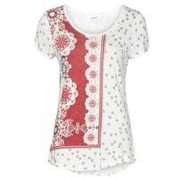 Odjeća Žene  Majice kratkih rukava Desigual ESTAMBUL Bijela