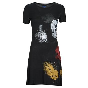 Odjeća Žene  Kratke haljine Desigual MICKEY Crna