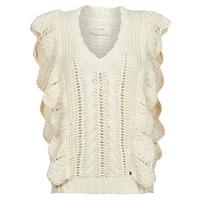 Odjeća Žene  Puloveri Cream ANNOLINA KNIT SLOPOVER Bijela