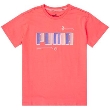 Odjeća Djevojčica Majice kratkih rukava Puma ALPHA TEE Ružičasta