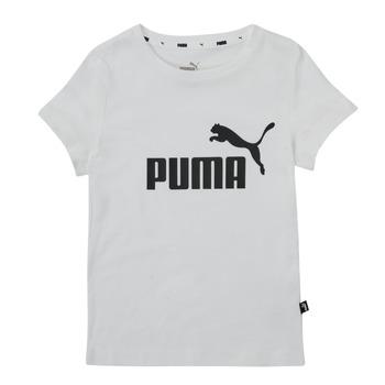 Odjeća Djevojčica Majice kratkih rukava Puma ESS TEE Bijela