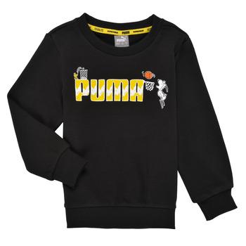 Odjeća Dječak  Sportske majice Puma SNOOPY PEANUTS CREW Crna