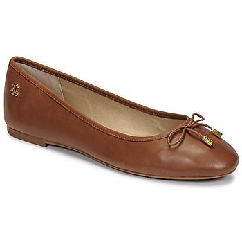 Obuća Žene  Balerinke i Mary Jane cipele Lauren Ralph Lauren JAYNA Boja konjaka