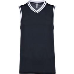 Odjeća Majice s naramenicama i majice bez rukava Proact Débardeur  university bleu marine/blanc