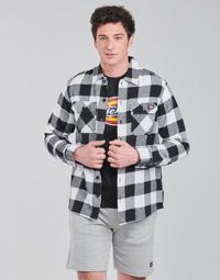 Odjeća Muškarci  Košulje dugih rukava Dickies NEW SACRAMENTO SHIRT BLACK Crna / Bijela