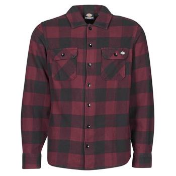 Odjeća Muškarci  Košulje dugih rukava Dickies NEW SACRAMENTO SHIRT MAROON Bordo / Crna