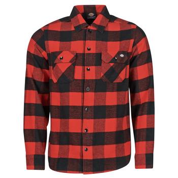 Odjeća Muškarci  Košulje dugih rukava Dickies NEW SACRAMENTO SHIRT RED Red / Crna