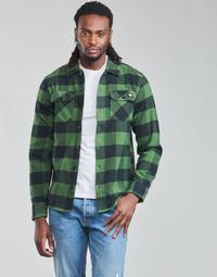 Odjeća Muškarci  Košulje dugih rukava Dickies NEW SACRAMENTO SHIRT PINE GREEN Kaki / Crna
