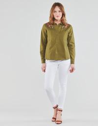 Odjeća Žene  Hlače s pet džepova Freeman T.Porter ALEXA CROPPED S-SDM Bijela